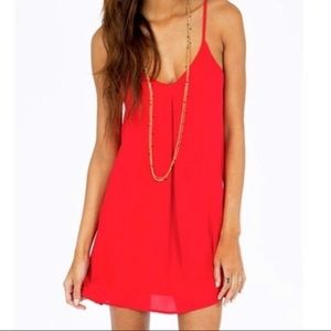 Red shift dress, Size S